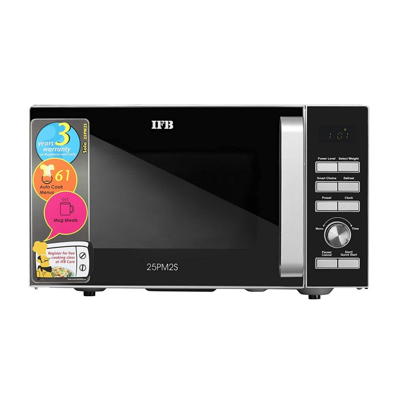 IFB 25 L Solo Microwave Oven (25PM2S, IFBJ0, Silver)